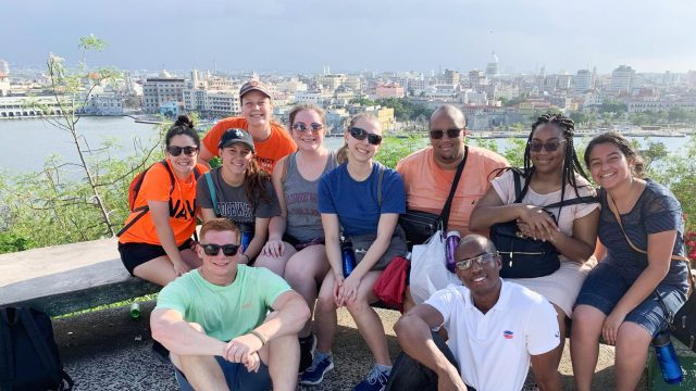 Students in the study abroad