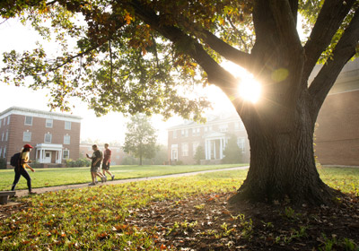Photo of Bridgewater campus with students|Photo of Bridgewater campus with students|Photo of Bridgewater campus with students