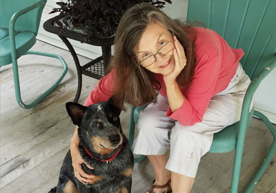 Photo of Sheila Turnage with her dog Photo of Sheila Turnage with her dog