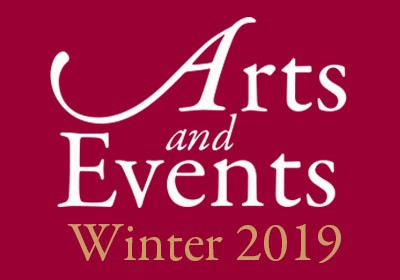 Graphic with words arts and events winter 2019|Graphic with words Arts and Evnets Winter 2019||Graphic with words arts and events winter 2019|Graphic with words arts and events winter 2019