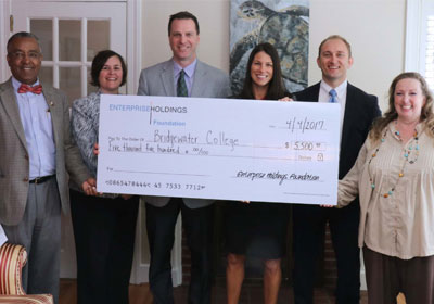 Group accepting a large check