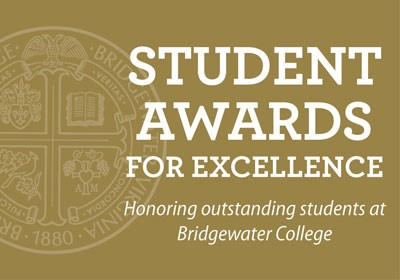Graphic with the words student awards for excellence