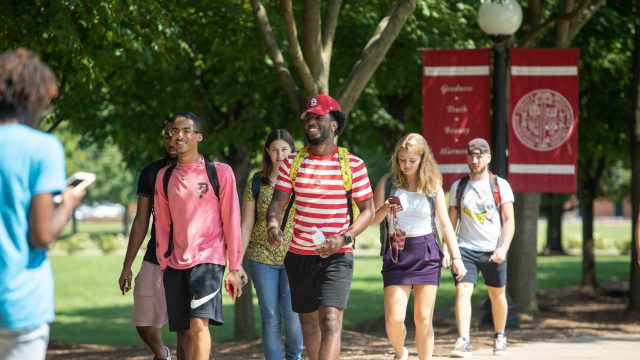 Students on the first day of class