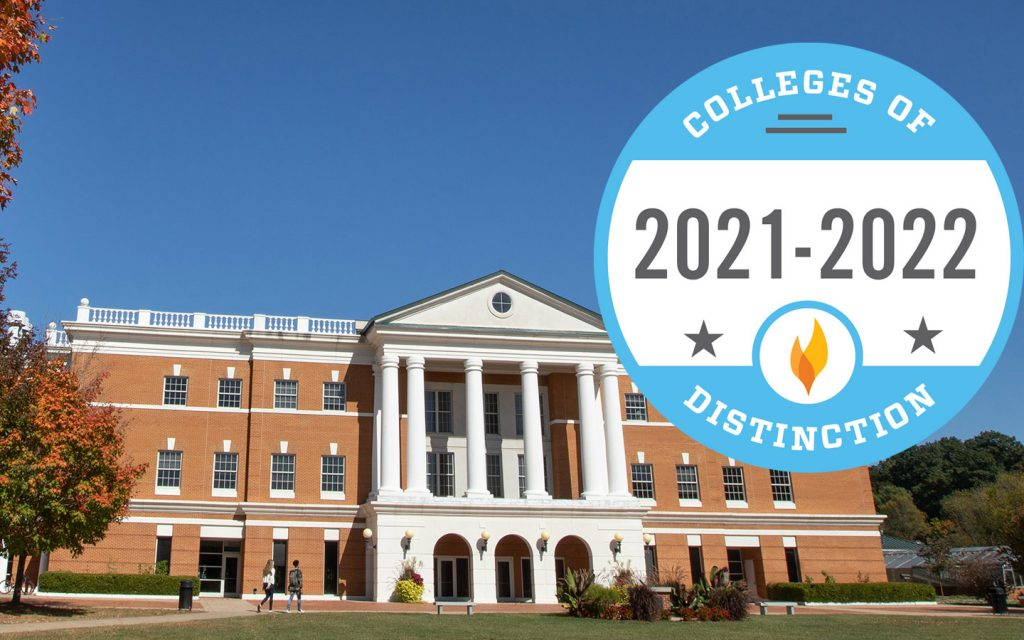 A photo of the McKinney building appears with the 2021-2022 colleges of distinction logo